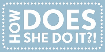 How DOES She Do it?! Logo